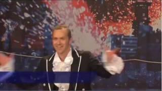 Max Carling går på lina i Talang 2009. Han gick till semifinal med ...