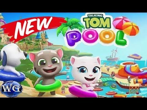 Игра Говорящий Том Аквапарк бесплатные игры для детей прохождение 17-22 уровень