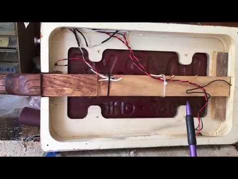 MGB License Plate Guitar Build 1
