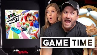 Super Mario Party Vs Burnie's Mole Pouch - Game Time   Rooster Teeth