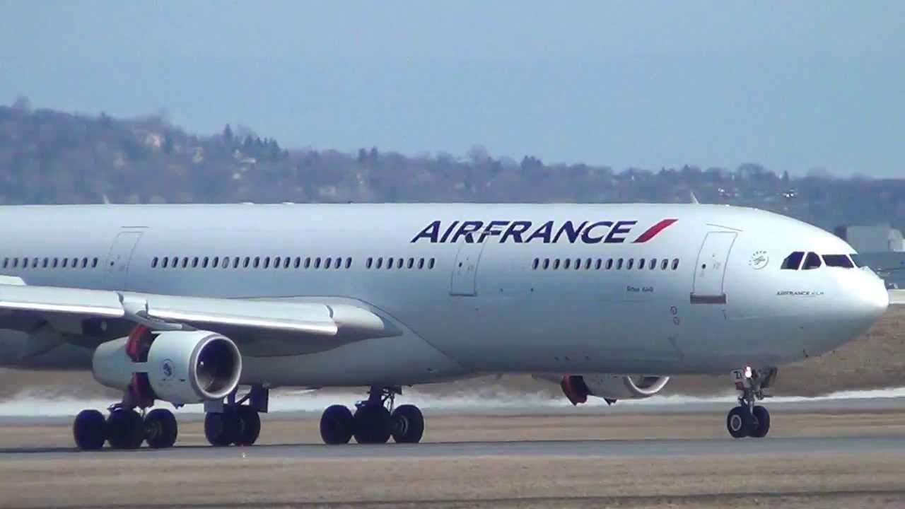 2 air france airbus a340 300 landings cyul youtube. Black Bedroom Furniture Sets. Home Design Ideas