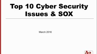 #29 | Top 10 Cyber Security Issues & SOX