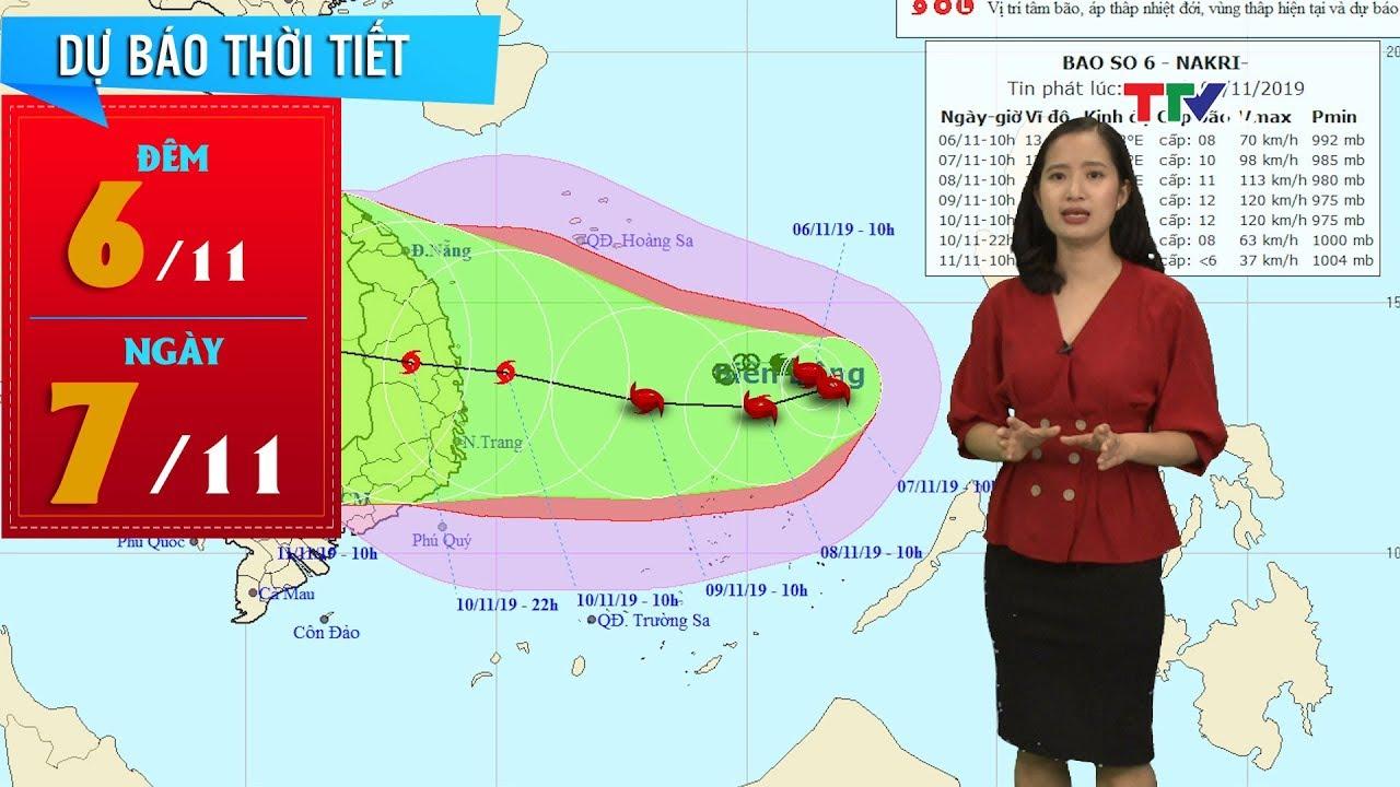 Diễn biến mới nhất về hướng đi của bão số 6 trên biển Đông | Dự báo thời tiết đêm 6 ngày 7/11