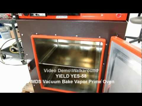 Yield YES-58 HMDS Vacuum Bake Vapor Prime Oven