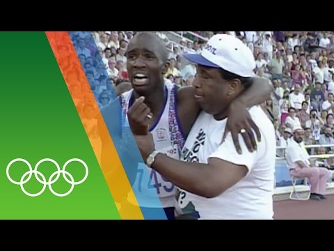 Derek Redmond at Barcelona 1992   Epic Olympic Moments