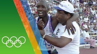 Video Derek Redmond at Barcelona 1992 | Epic Olympic Moments download MP3, 3GP, MP4, WEBM, AVI, FLV Mei 2018
