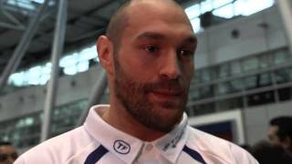 TYSON FURY IS ASKED BY REPORTER WHETHER HE WILL SING A SONG WHEN HE LOSES TO WLADIMIR KLITSCHKO