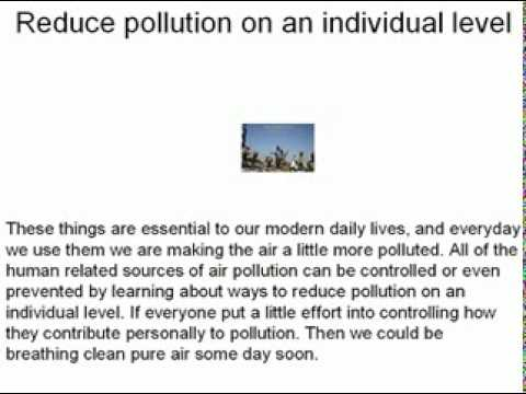 Some Major Sources of Air Pollution