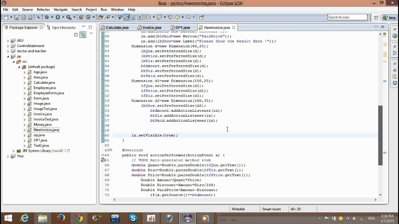 How To Create Simple Invoice In Java Programing