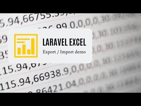 Laravel Excel Live-Coding: Export - Edit - Import Back - YouTube