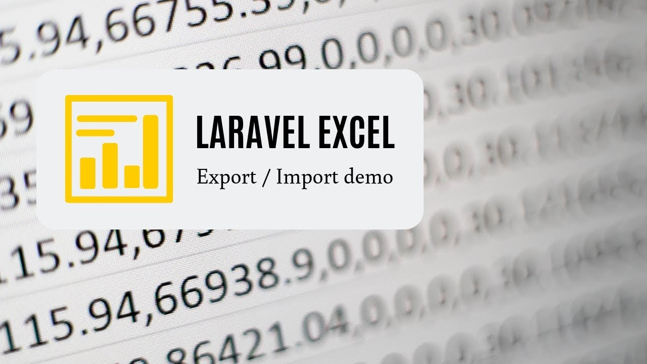 Laravel Excel Live-Coding: Export - Edit - Import Back