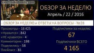 Ответы на вопросы №28 с детьми/ 22 апреля 2016 / Семья Савченко