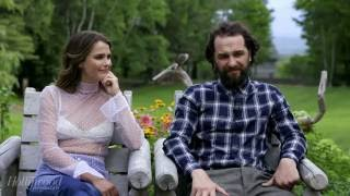 keri russell and matthew rhys behind the scenes of the americans