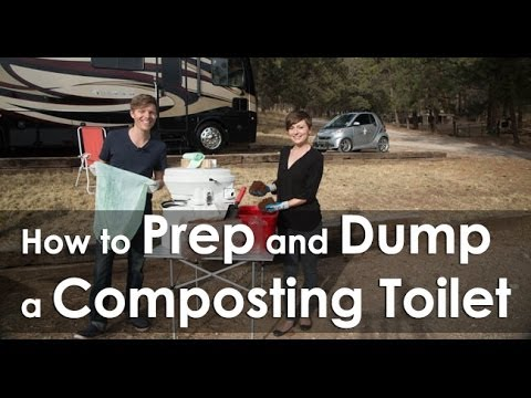 How to Prep and Dump a Composting Toilet - YouTube