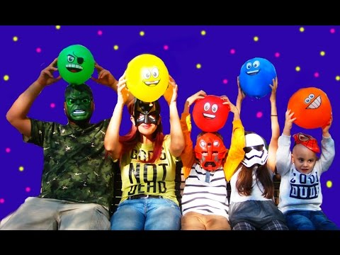 Thumbnail: 5 Superhero Finger Family Song for LEARNING COLORS - Songs For Babies with Balloons