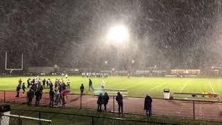 Heavy October snow coats Tully football game
