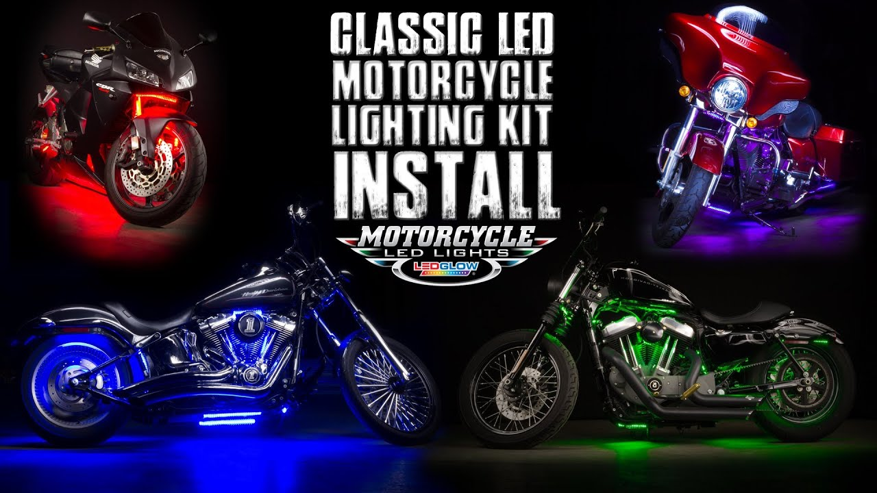 ledglow classic motorcycle lighting kit install [ 1280 x 720 Pixel ]