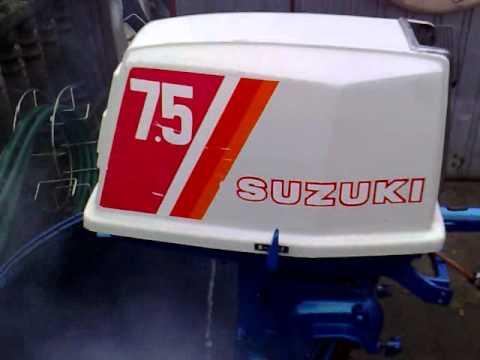 Suzuki 7 5 hp outboard motor 1977r 2 stroke dwusuw for Suzuki 2 5 hp motor