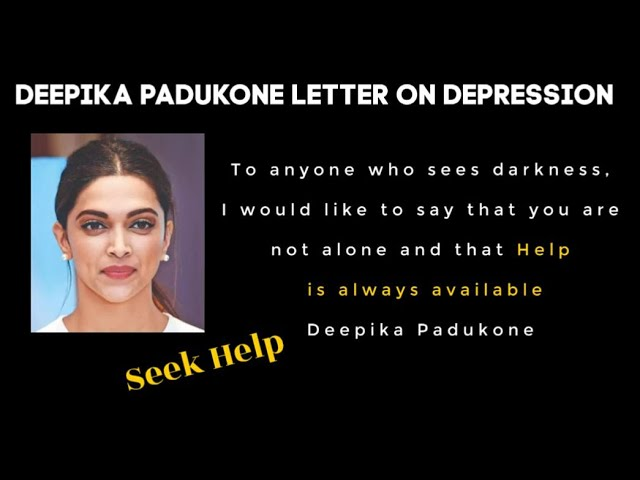 Deepika Padukone depression story letter to fans