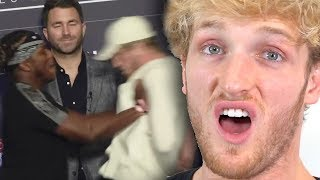 Movie Logan Paul Reacts To Viral Ksi Push At Final Press Conference from
