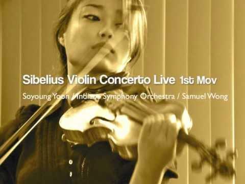 Soyoung Yoon - Sibelius Violin Concerto Live 1st Mov