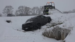 Rockford, IL Heavy Snow, Accidents & Snow Plows - 12/11/2016