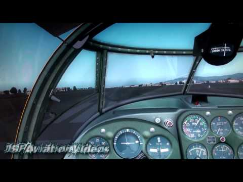 FSX - Landing into Mallorca (Son Bonet) Saab Safir X