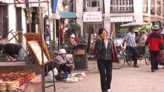 Lhasa, Street Life, Tibet - China Travel Channel(The street life in Lhasa, the administrative capital of Tibet, China, mostly takes place around the Jokhang Temple, which is the religious center of Tibet., 2013-11-08T08:40:56.000Z)