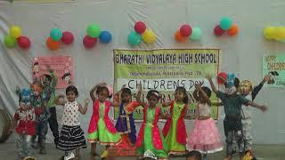 bharathi vidyalaya high school dance by LKGstudents for childrensday