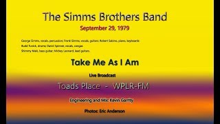 Simms Brothers Band - Take me as I am- WPLR Broacast