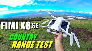FIMI X8 SE Range Test in Country - How Far Will it Go? [No Interference & No Boosters]