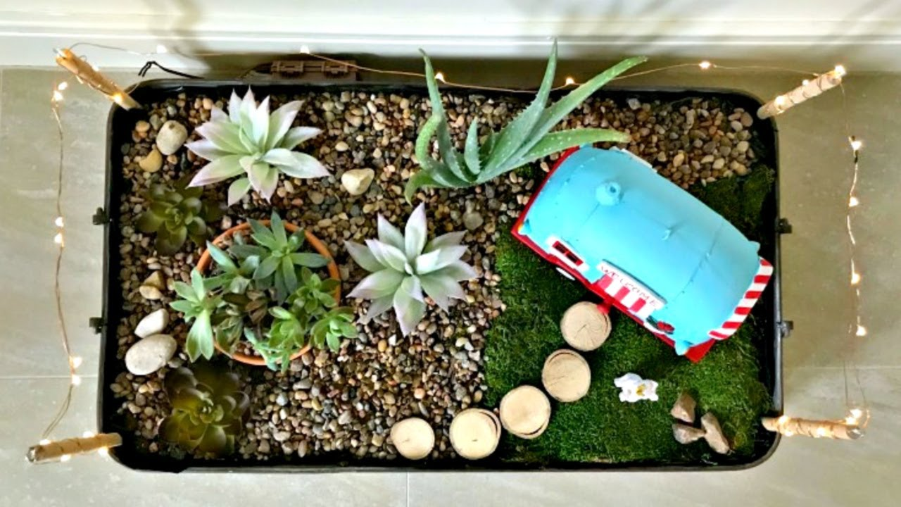 Indoor Fairy Garden Diy Dish Gardening Idea Fun Succulent Dish Garden Idea Youtube