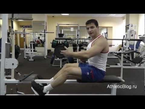 Тяга к животу сидя в тренажере. Упражнение для мышц спины. Обучающее видео.