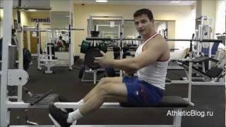 Тяга к животу сидя в тренажере. Упражнение для мышц спины. Обучающее видео.(Программа силовых тренировок «Титан»: http://www.athleticblog.ru/?page_id=3095 Тяга к животу сидя в тренажере. Упражнение..., 2011-11-16T20:21:54.000Z)