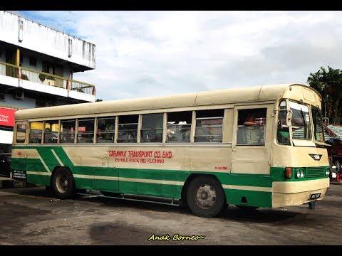 Borneo Bus : Antique STC Sarawak Bus Journey from Perbatasan Kalimantan-Sarawak, Border to Town.