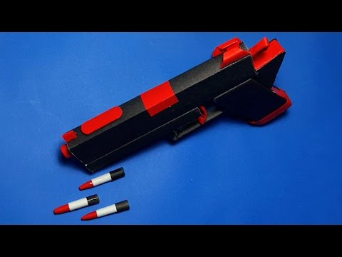 |DIY| How To Make a Paper Red Angel Gun That shoots paper bullets-Toy Weapons-By. Dr.Origami