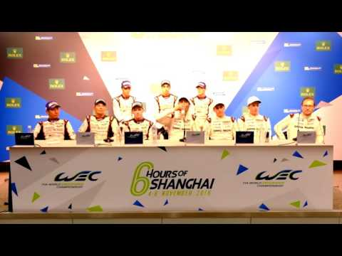 Post Race Press Conference - Winners LMP1 Class - 6 Hours of Shanghai