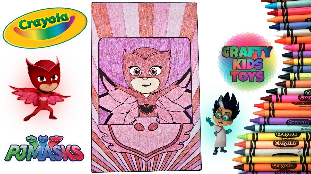Owlette Pj Masks Disney Jr Crayola Giant Coloring Page Red Amaya