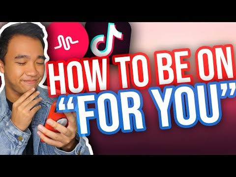 """HOW TO BE ON """"FOR YOU"""" PAGE ON TIK TOK/MUSICAL.LY! *NEW*"""