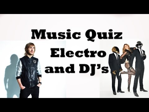 Music Quiz - Electro & DJs