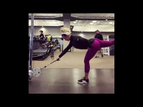 Glutes and Hamstring Exercise- Single Leg Romanian Deadlift RDL with a Low Pulley Cable