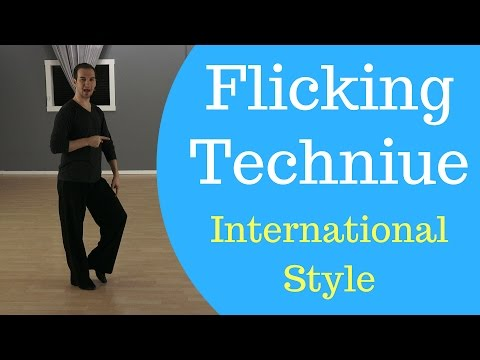 Rumba Technique - Flicking Technique in International Style