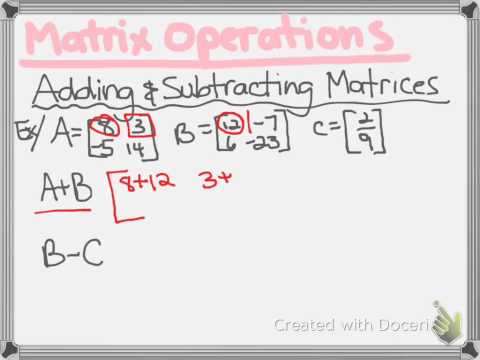 0-6 Matrix Operations