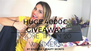 HUGE 20k GIVEAWAY!/ 4000€ BEAUTY PRODUCTS/ MORE THAN 20 WINNERS!