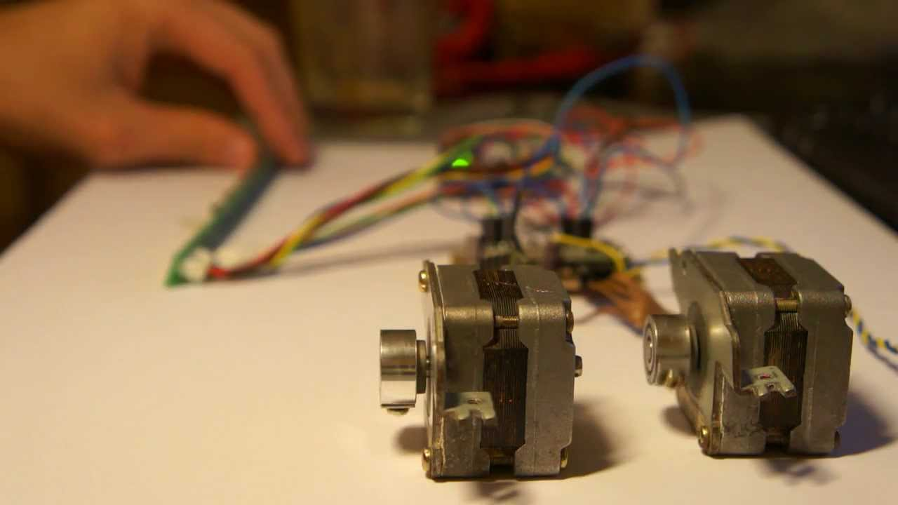 5 Wire Unipolar Stepper Motor Converted To 4 Wire Bipolar