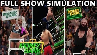 WWE 2K18 SIMULATION: MONEY IN THE BANK 2018 FULL SHOW HIGHLIGHTS