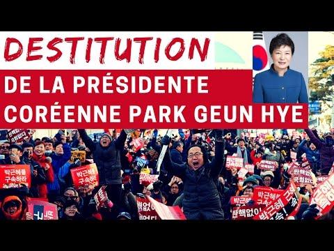 Destitution de la présidente Coréenne Park GEUN Hye - Jour historique en Corée