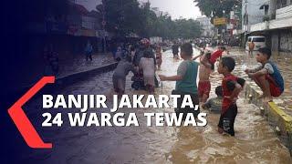 24 Korban Dinyatakan Tewas Akibat Banjir Jakarta