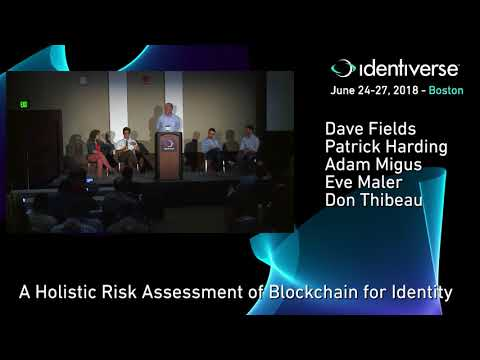 6/25 A Holistic Risk Assessment of Blockchain for Identity | Identiverse 2018
