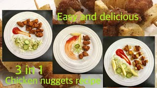 Chicken Nuggets 3 in 1 Recipe . Ramadan , snack and lunch box ideas . Urdu and English